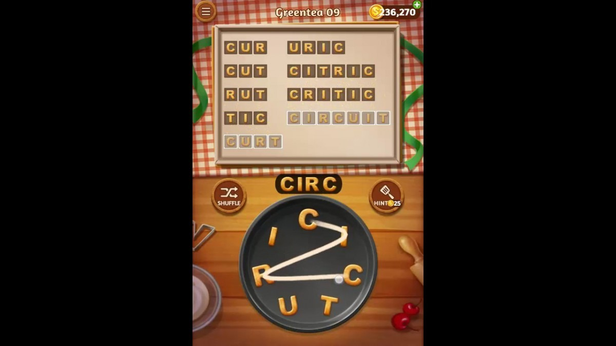 Word Cookies Greentea Pack Level 9 Answers