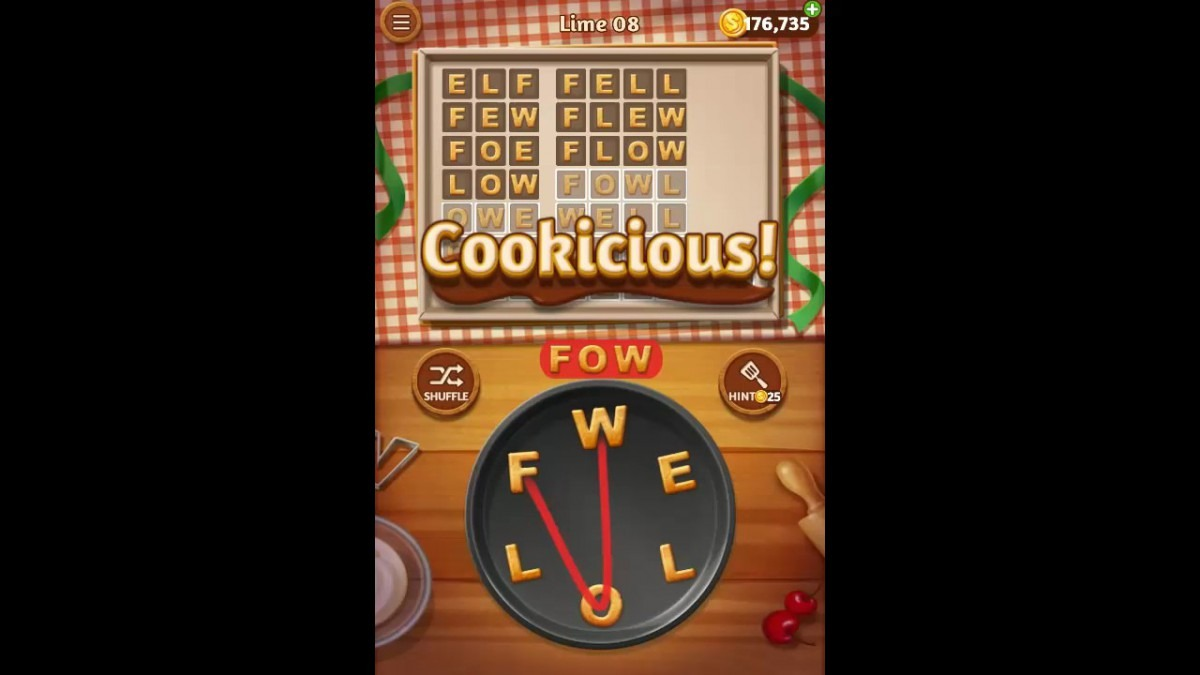 Word Cookies Lime Pack Level 8 Answers