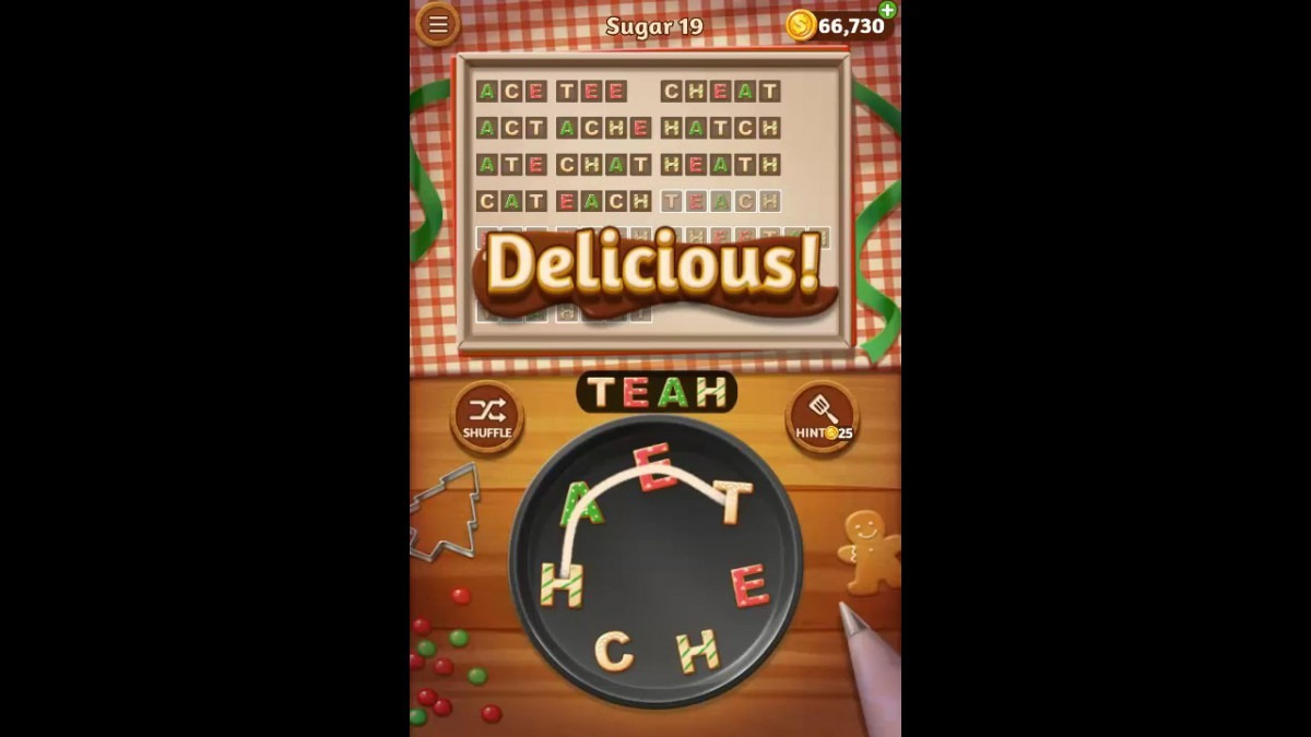 Word Cookies Sugar Pack Level 19 Answers