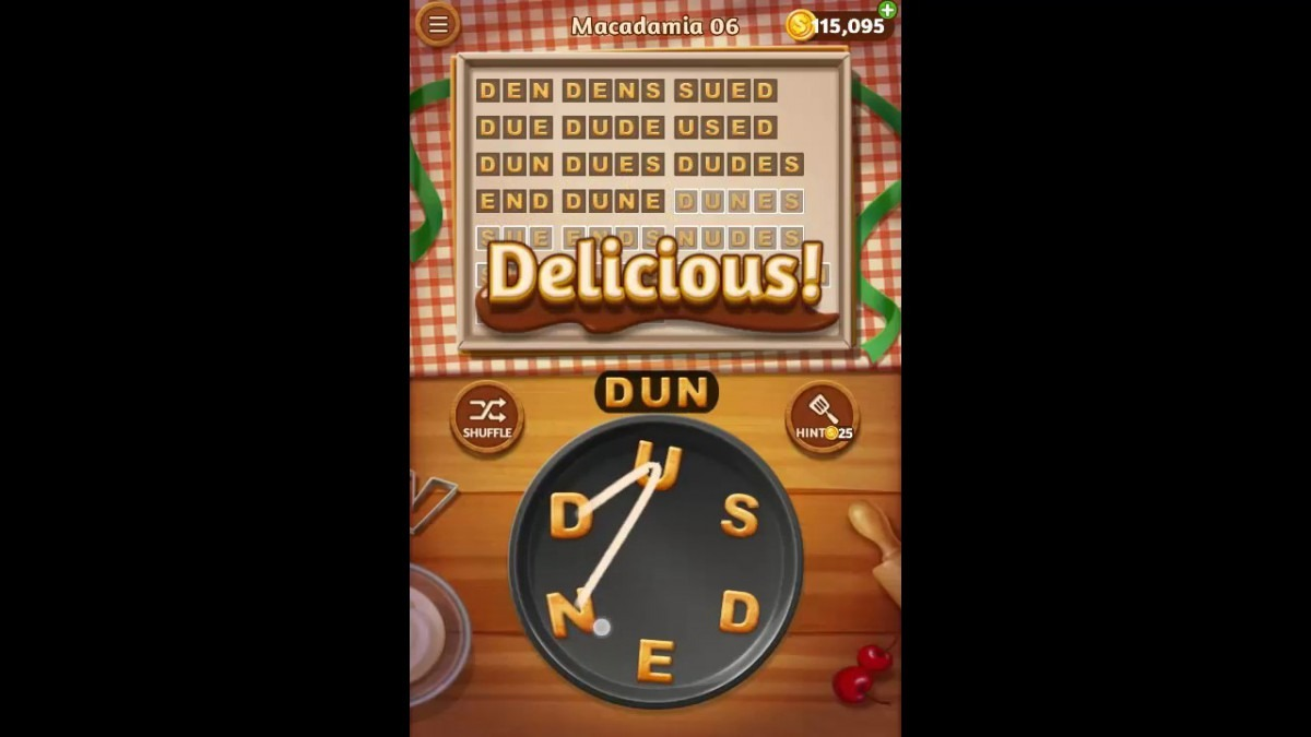 Word Cookies Macadamia Pack Level 6 Answers
