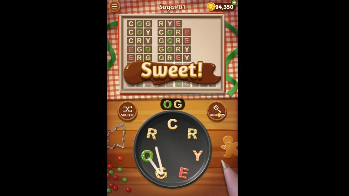 Word Cookies Sugar Pack Level 1 Answers