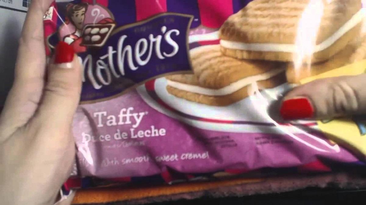 Asmr Eating Crunching Mother's Taffy Dulce De Leche Cookies