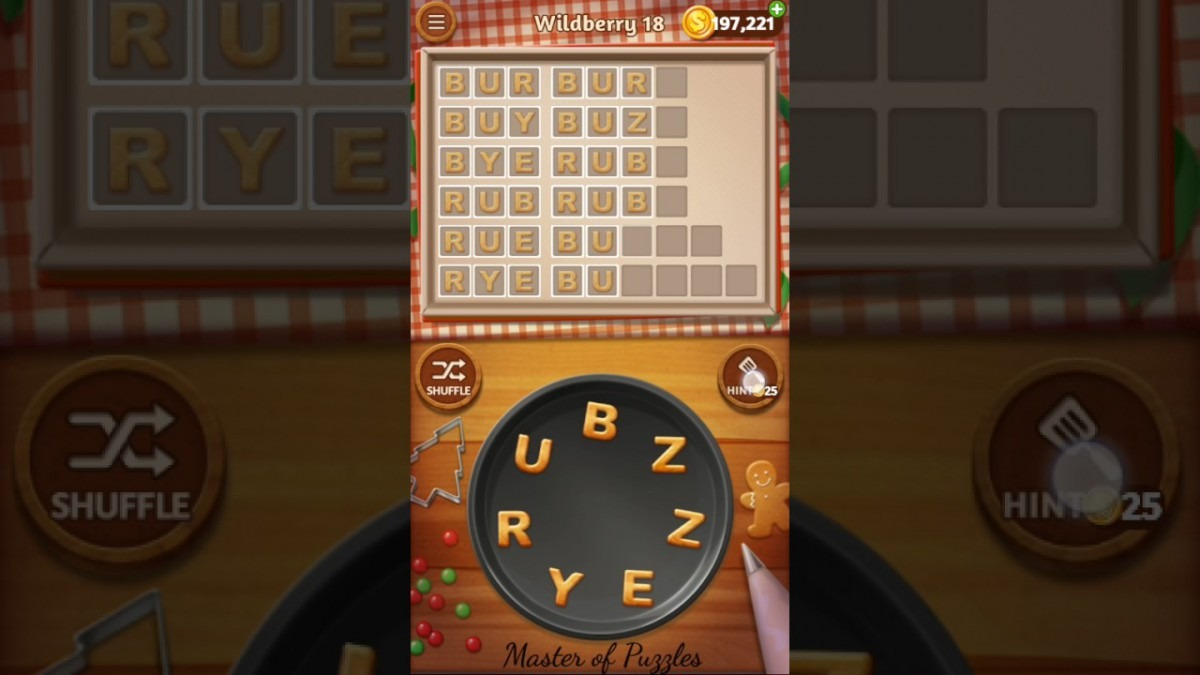 Word Cookies Wildberry Level 18 Celebrity Chef Solved