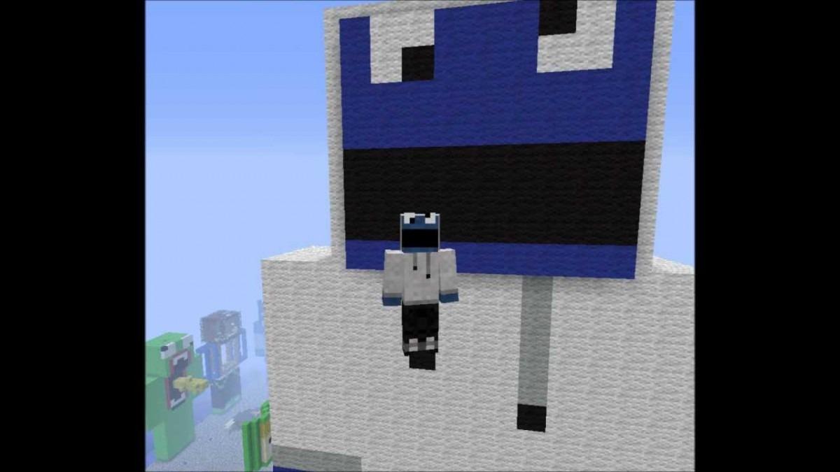 Minecraft Cookie Monster With Hoodie Skin