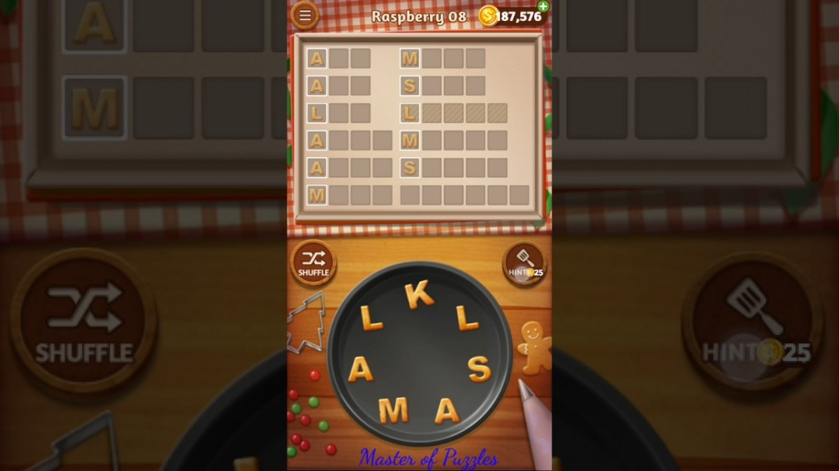 Word Cookies Raspberry Level 8 Celebrity Chef Solved