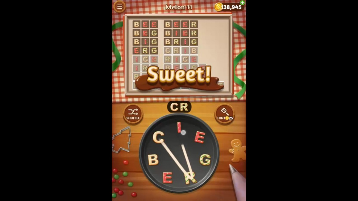 Word Cookies Melon Pack Level 11 Answers