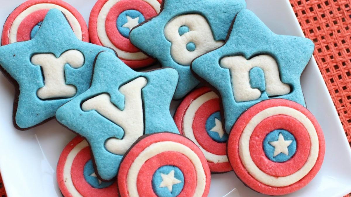 Captain America Shield Cookies