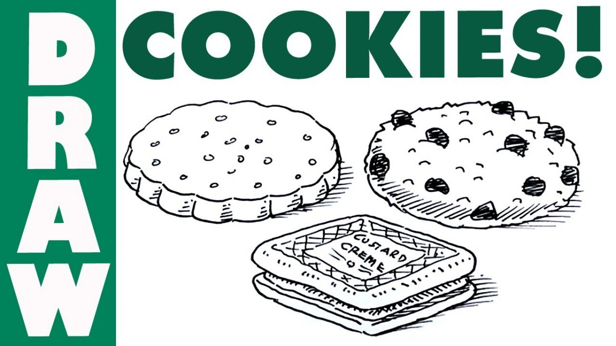 How To Draw Cookies And Biscuits