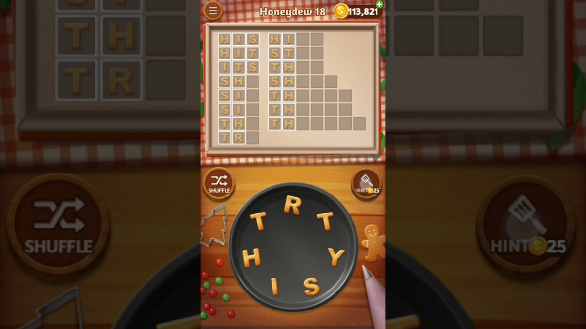 Word Cookies Honeydew Level 18 Sous Chef Solved