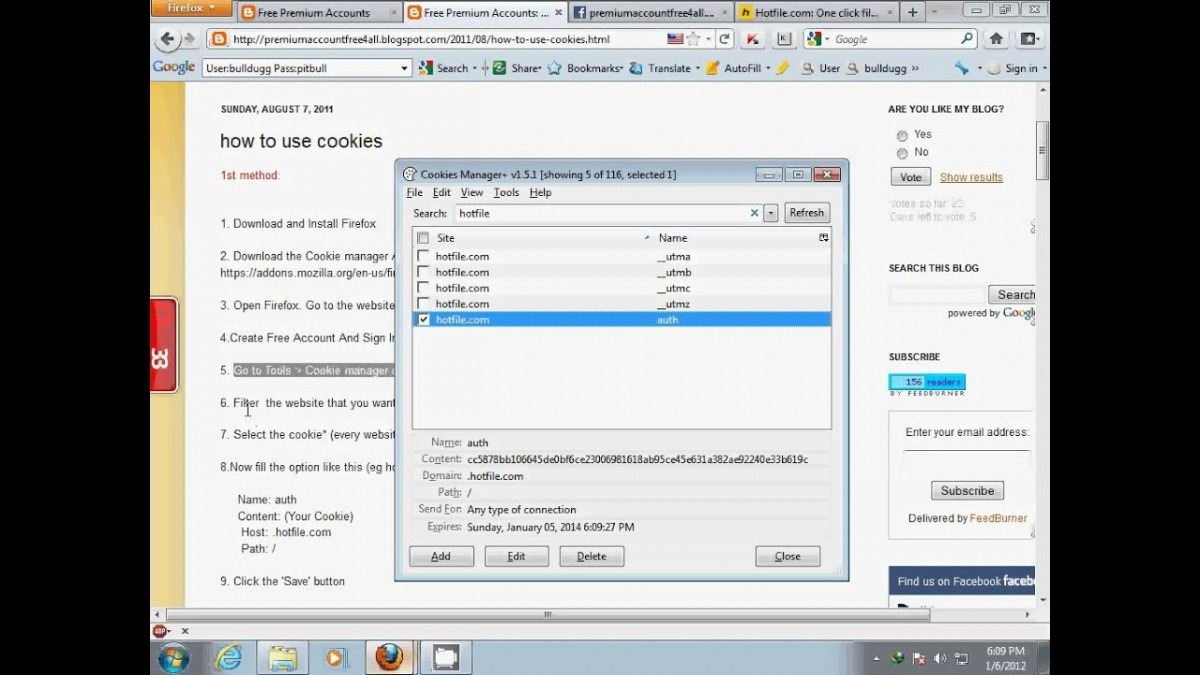 How To Use Cookie In Firefox(cookie Manager)