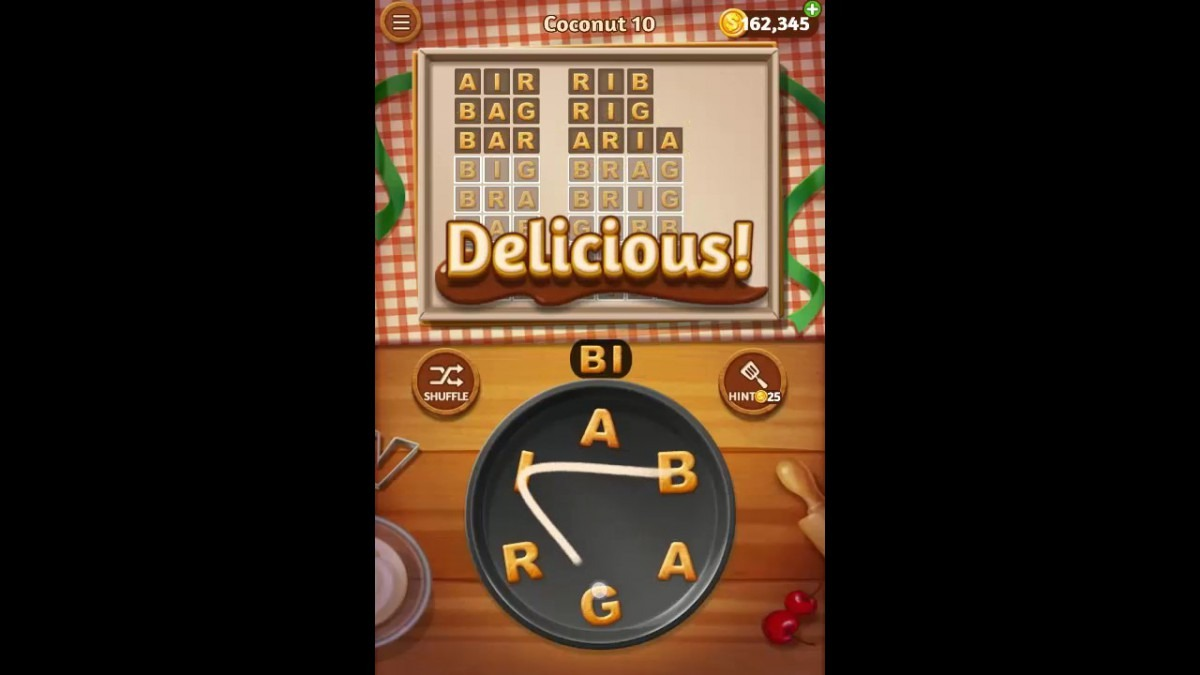 Word Cookies Coconut Pack Level 10 Answers