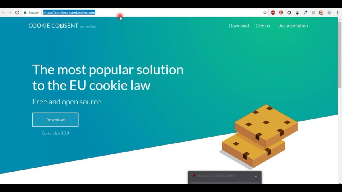 Cookies Notification In Website For European Union Countries New