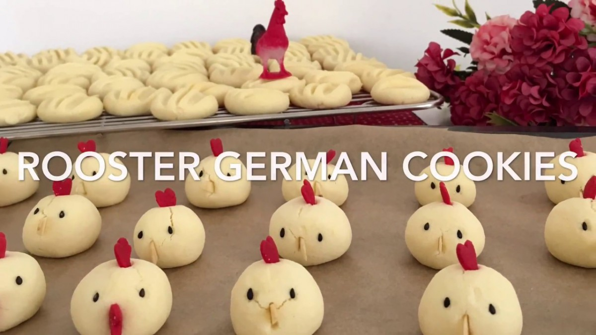 Rooster German Cookies For Chinese New Year