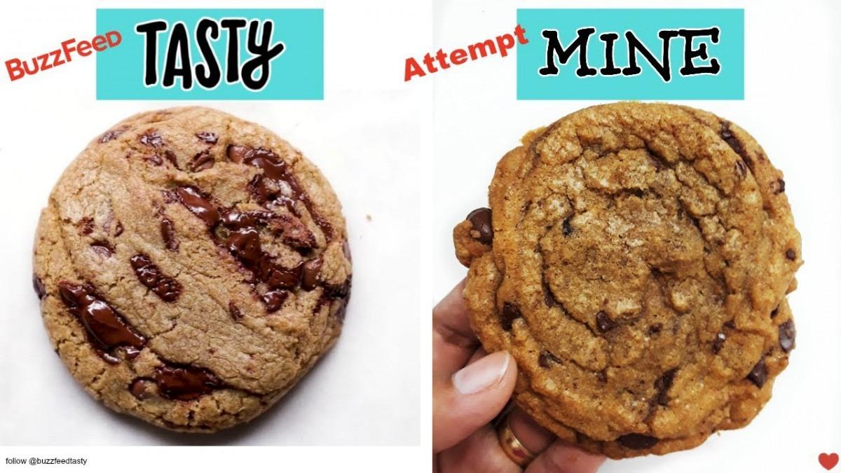 I Tried Buzzfeed Tasty's Perfect Chocolate Chip Cookie