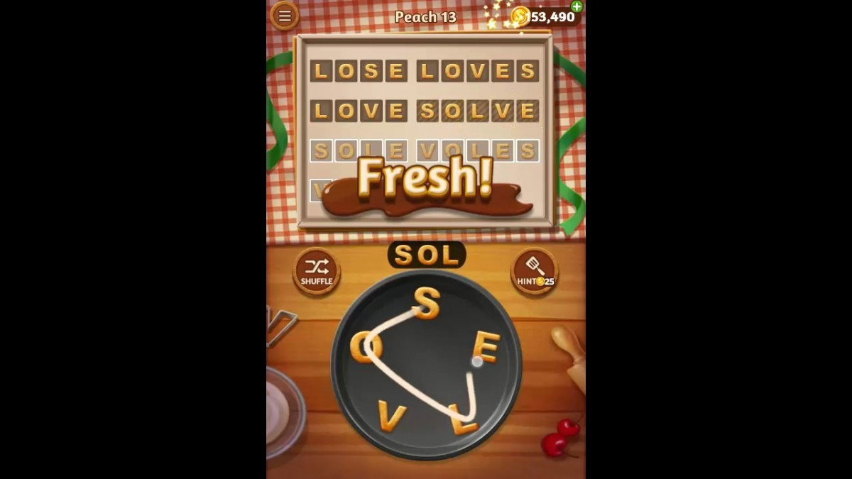 Word Cookies Peach Pack Level 13 Answers