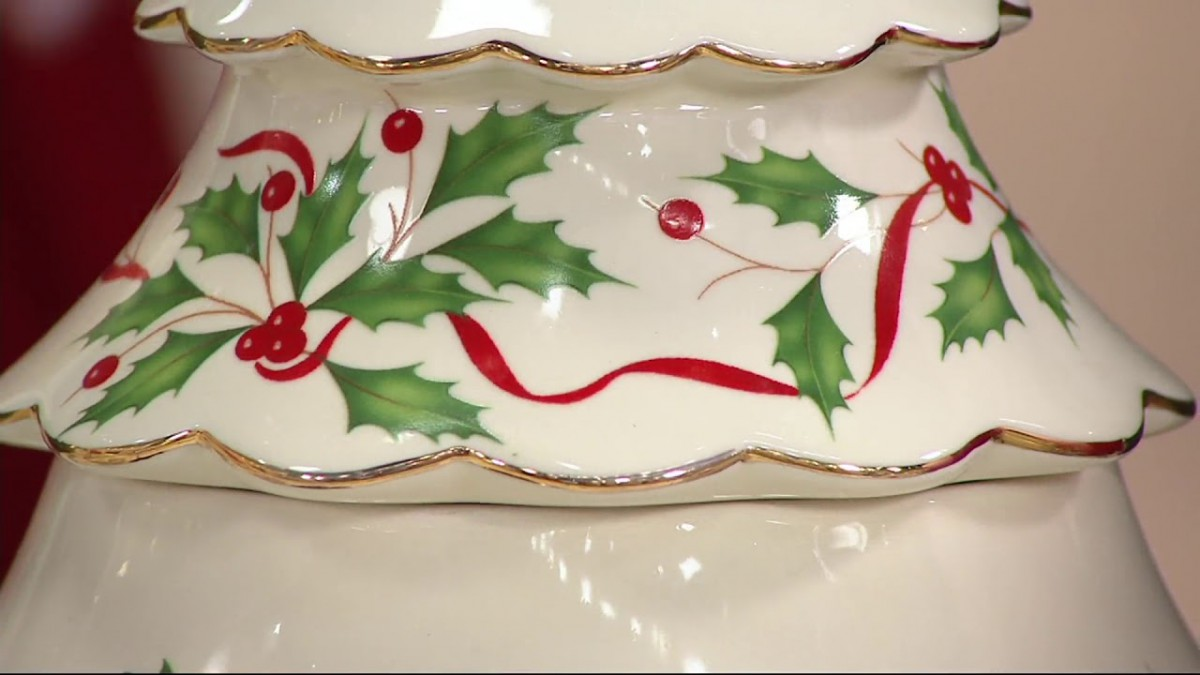 Lenox Holiday Porcelain Figural Cookie Jar On Qvc