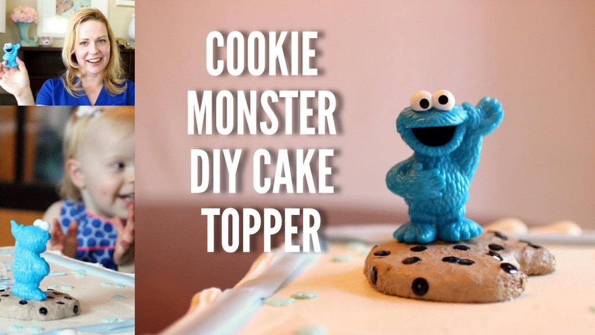 Easy Cookie Monster Diy Cake Topper