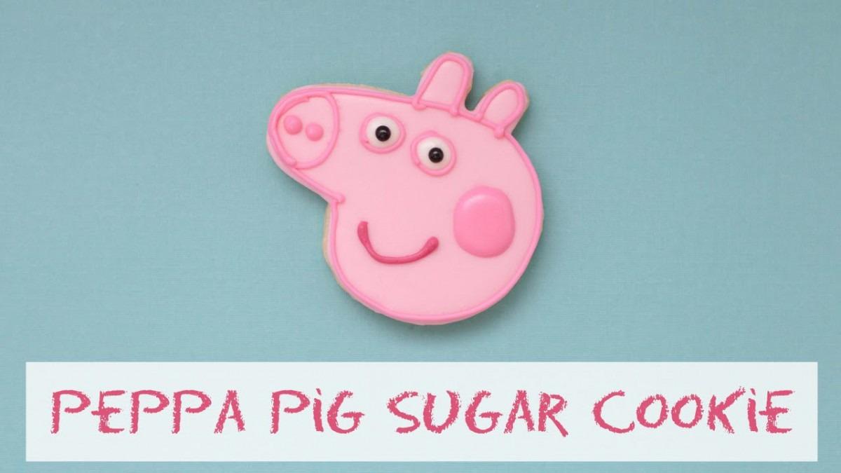 Peppa Pig Sugar Cookie (timelapse)