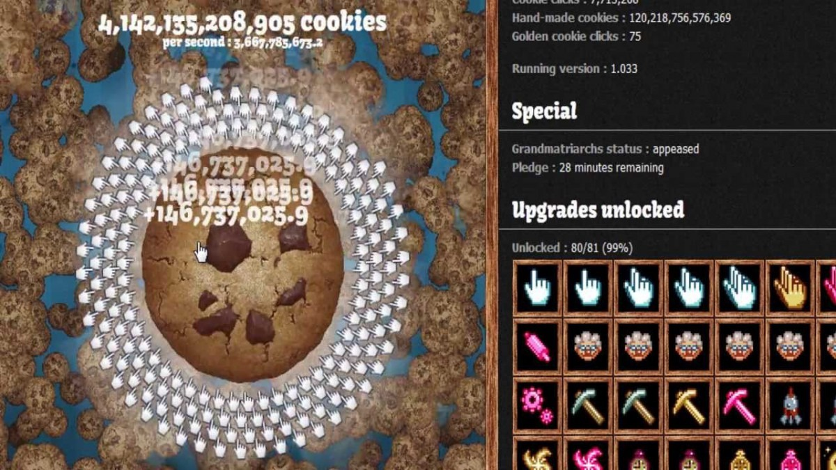 Cookie Clicker (500mil S) ― End Game
