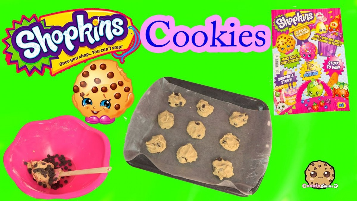 Baking Chocolate Chip Cookies With Shopkins Kooky Cookie From
