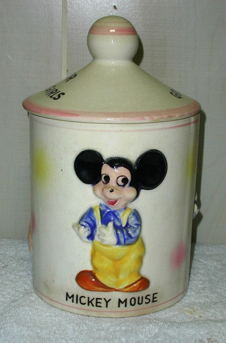Mickey Mouse   Disney Productions Candy Jar From Collector Cookie