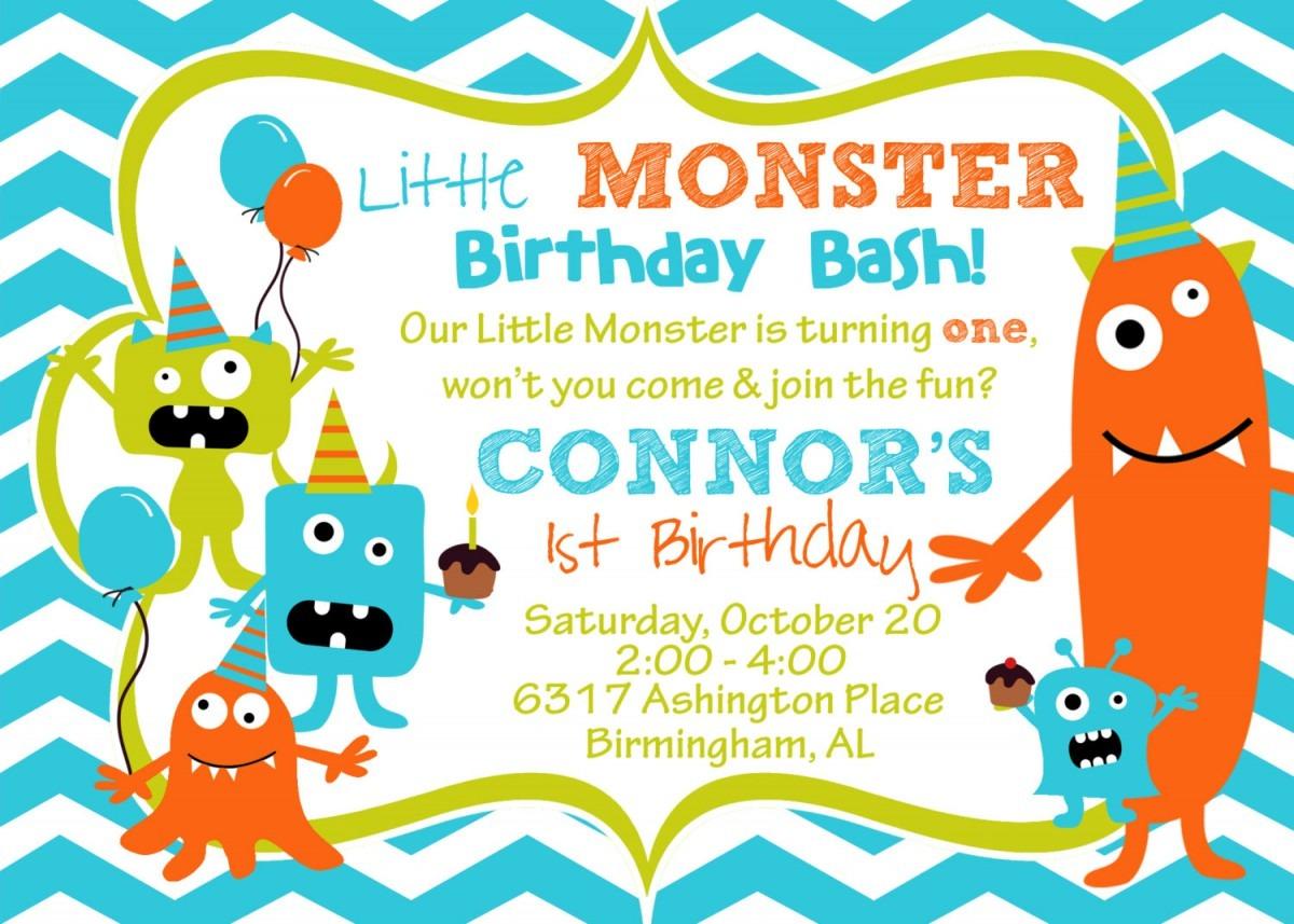 Monster Birthday Invitations Perfect Monster Invitations Birthday