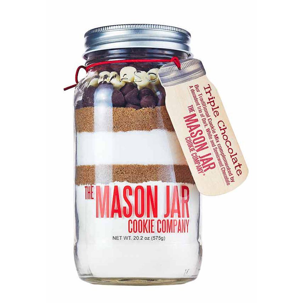 The Mason Jar Cookie Company 20 2 Oz  Cookie Mix Triple Chocolate