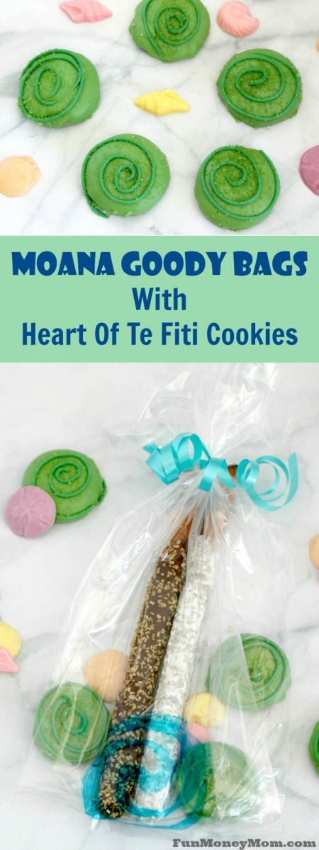 Goody Bags With Heart Of Tefiti Moana Cookies
