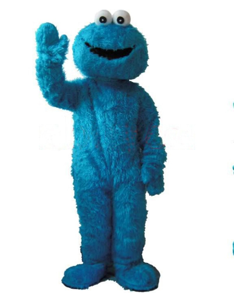 New Wedding Sesame Street Cookie Monster Adult Size Mascot Cosutme
