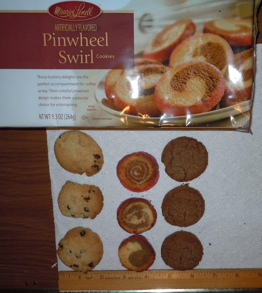 3 Cookies Each  Chocolate Chip, Pinwheel Swirl (note Pix On
