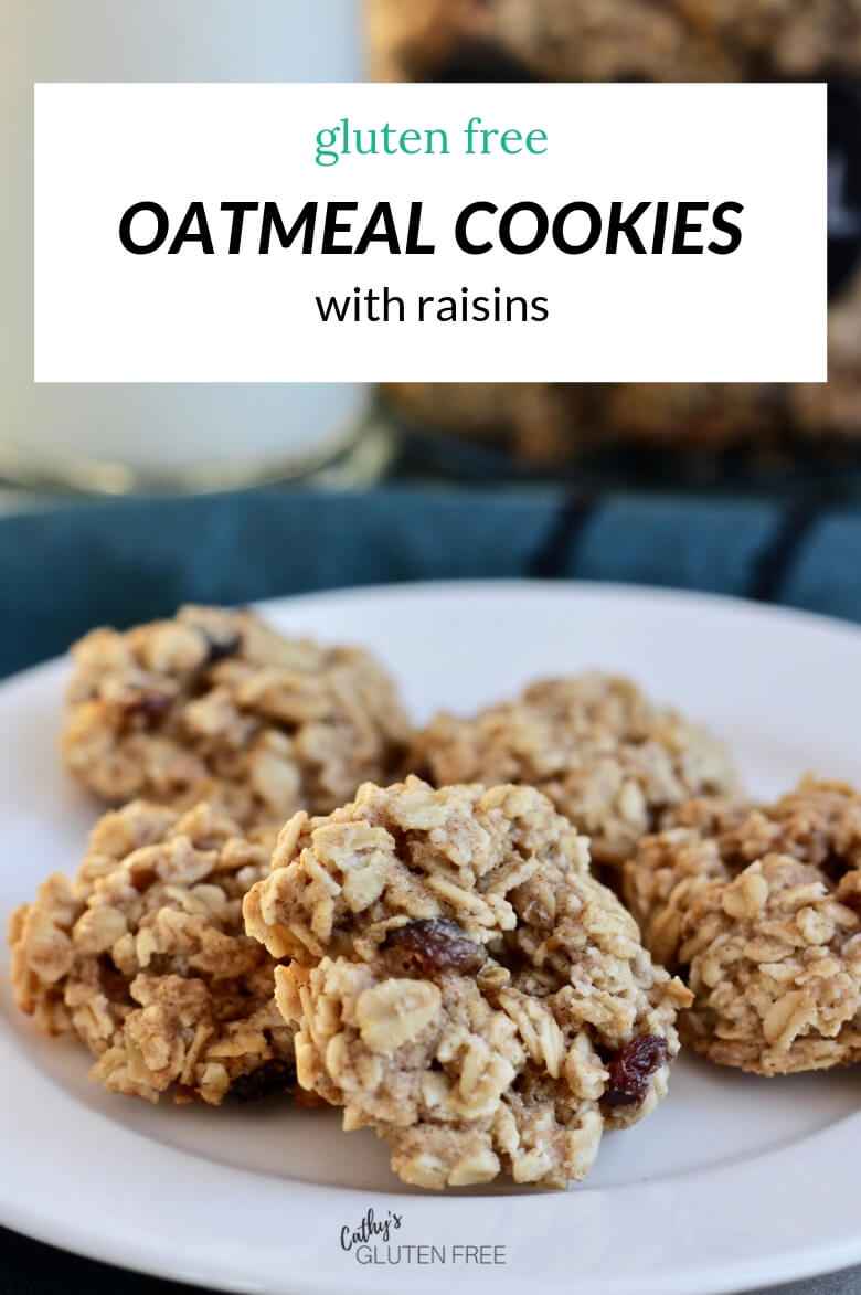 Gluten Free Oatmeal Cookies With Raisins