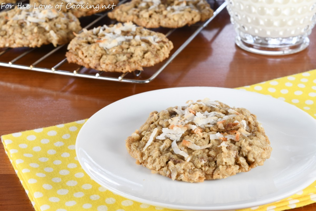 Oatmeal Toffee Cookies With Toasted Coconut
