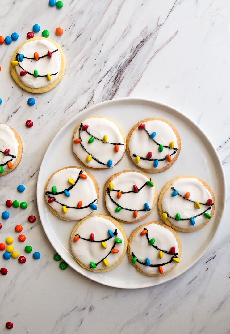 Christmas Lights Cookies For Santa! A Small Batch Sugar Cookie