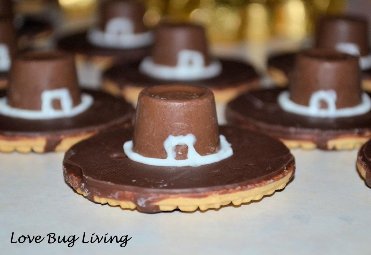 Love Bug Living  Pilgrim Hat Cookies