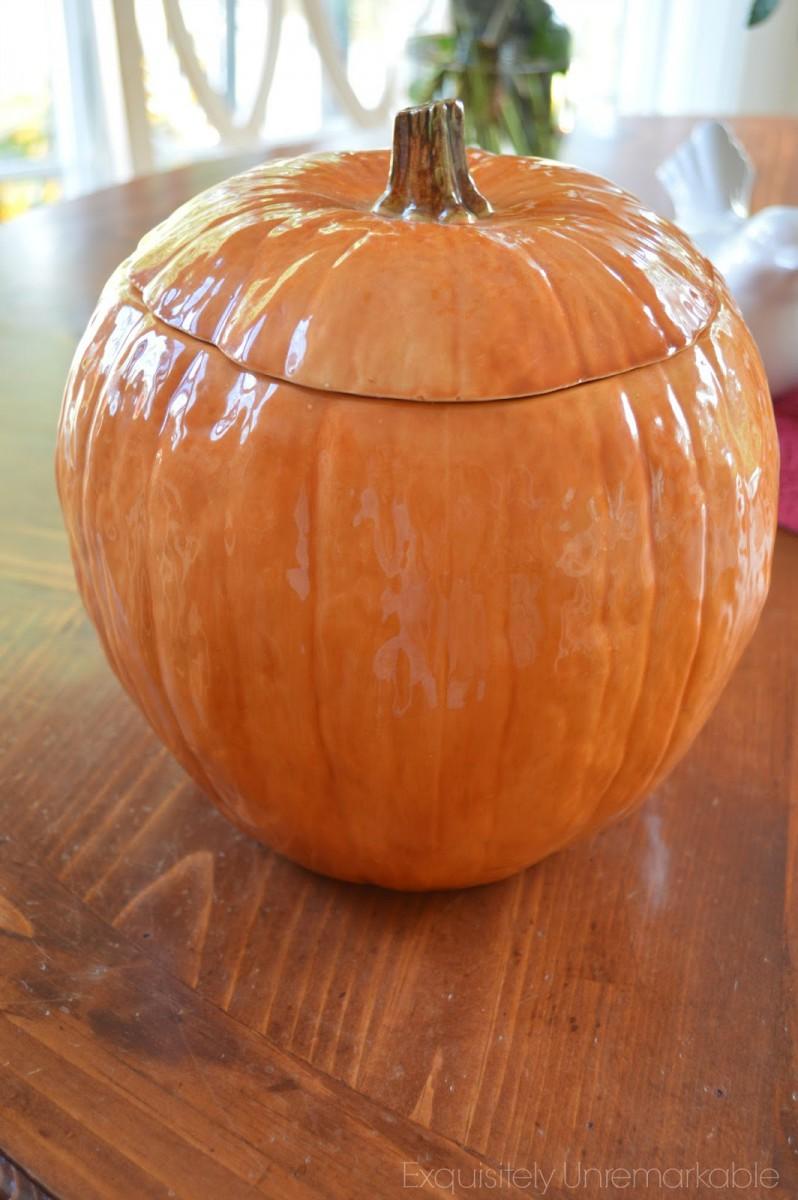 Cookie Jar Pumpkin Vase Or Planter