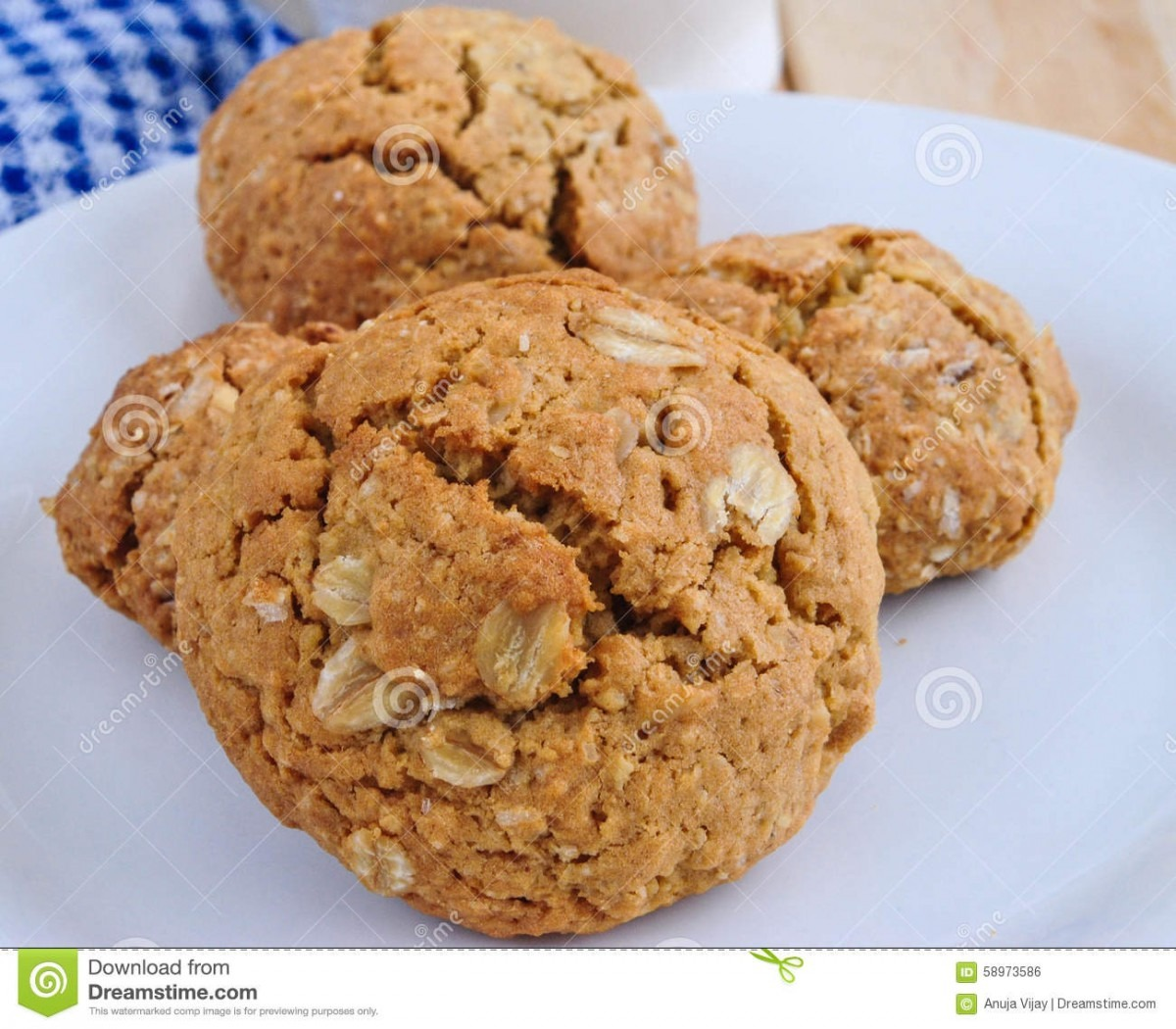 Rolled Oats Cookies Stock Photo  Image Of Oats, Nutrition