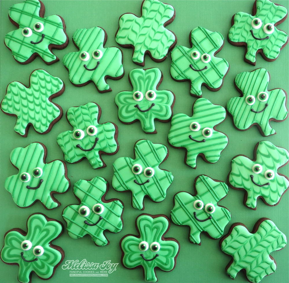 St  Patrick's Day Shamrocks By Melissa Joy Fanciful Cookies