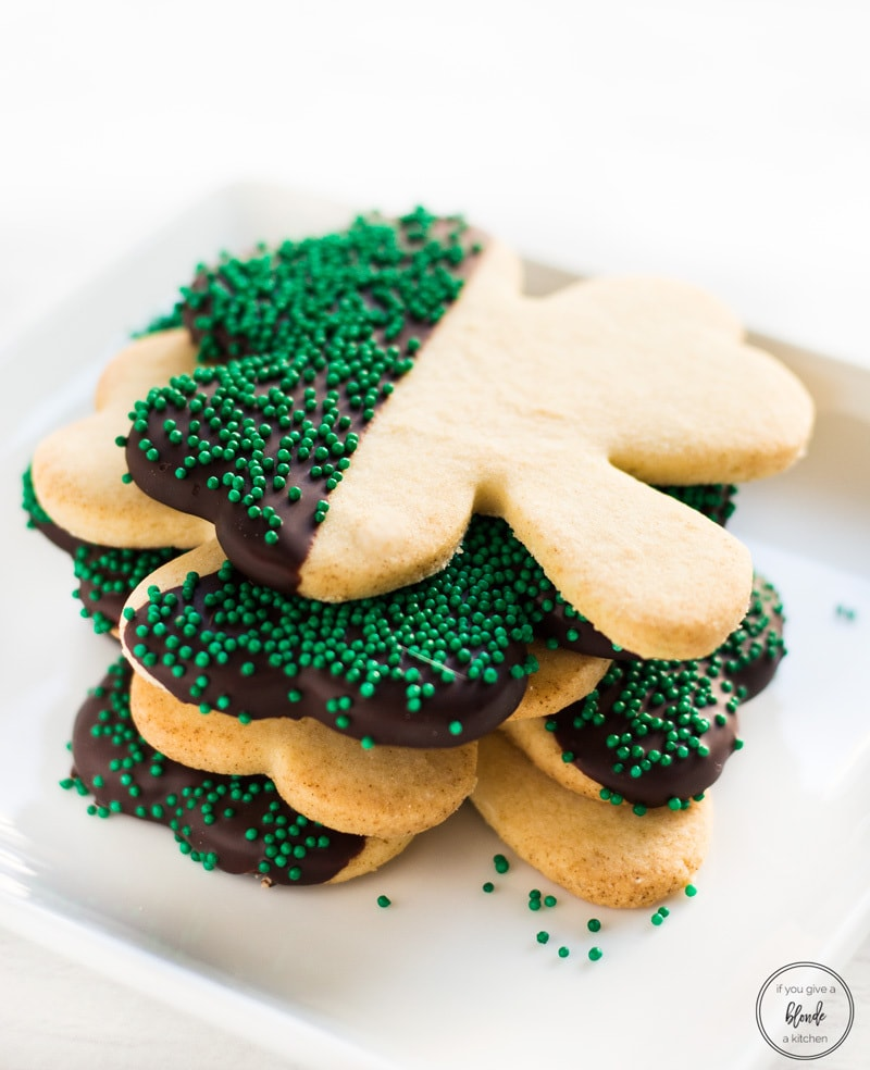 Shamrock St Patrick's Day Cookies