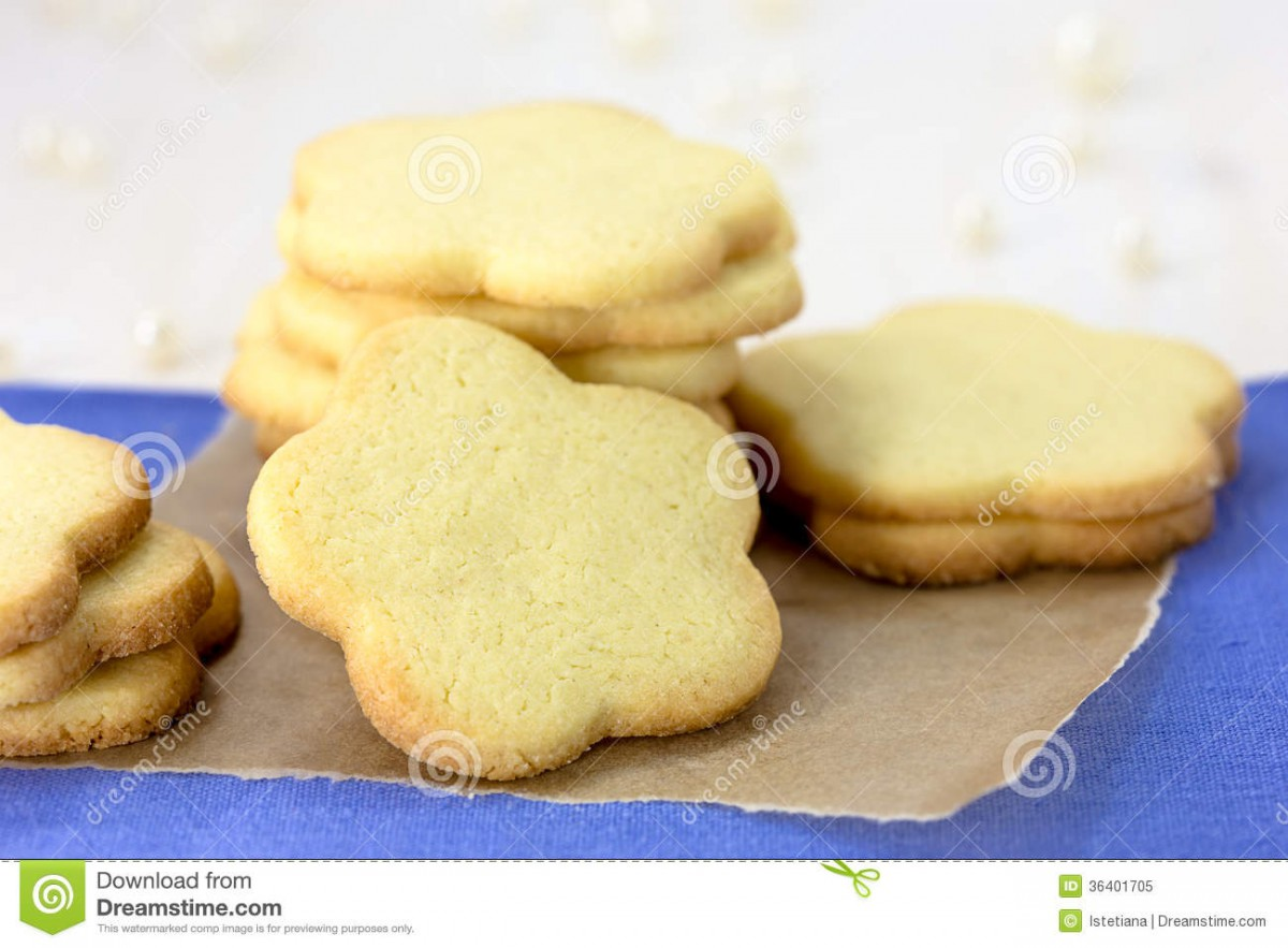 Stack Of Shortbread Cookies Stock Image