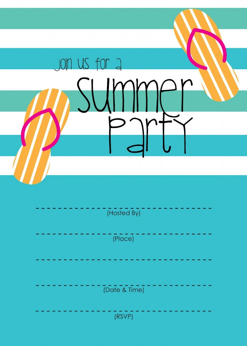 Summer Party Invitations Summer Party Invitations For Your Party