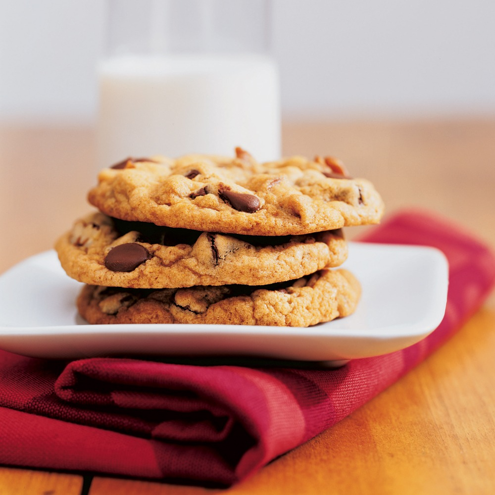 Thick, Chewy Chocolate Chip Cookies Recipe