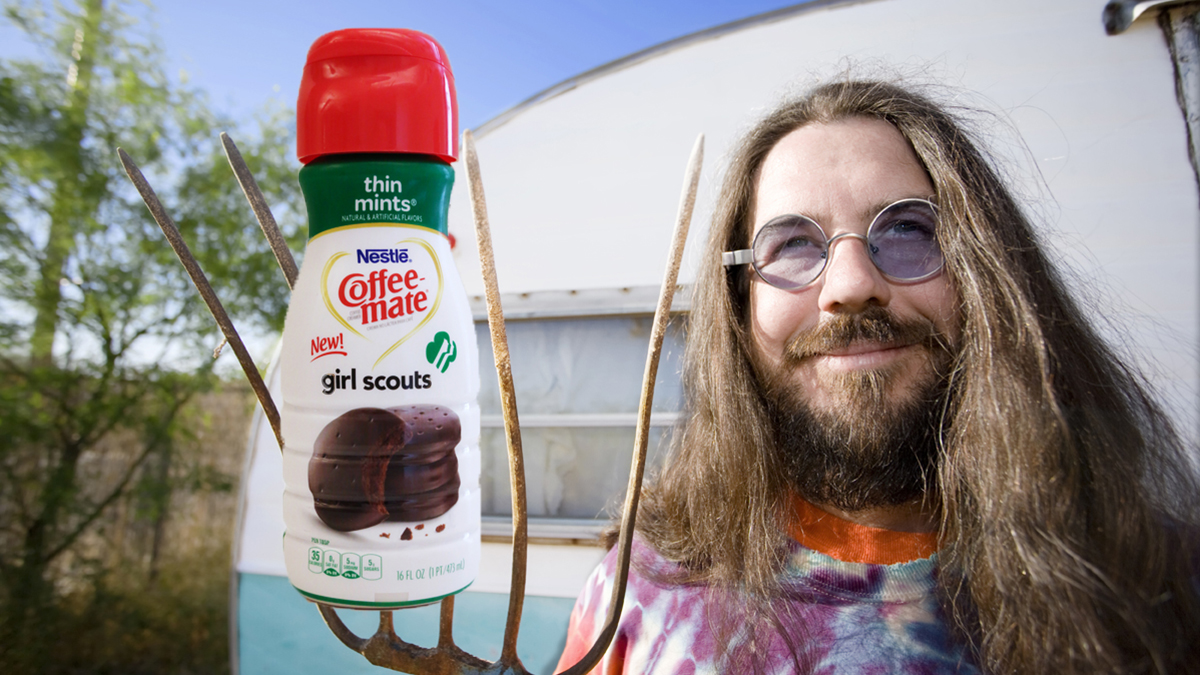 Local Farmer Chortles At  Girl Scout Cookie  Creamer