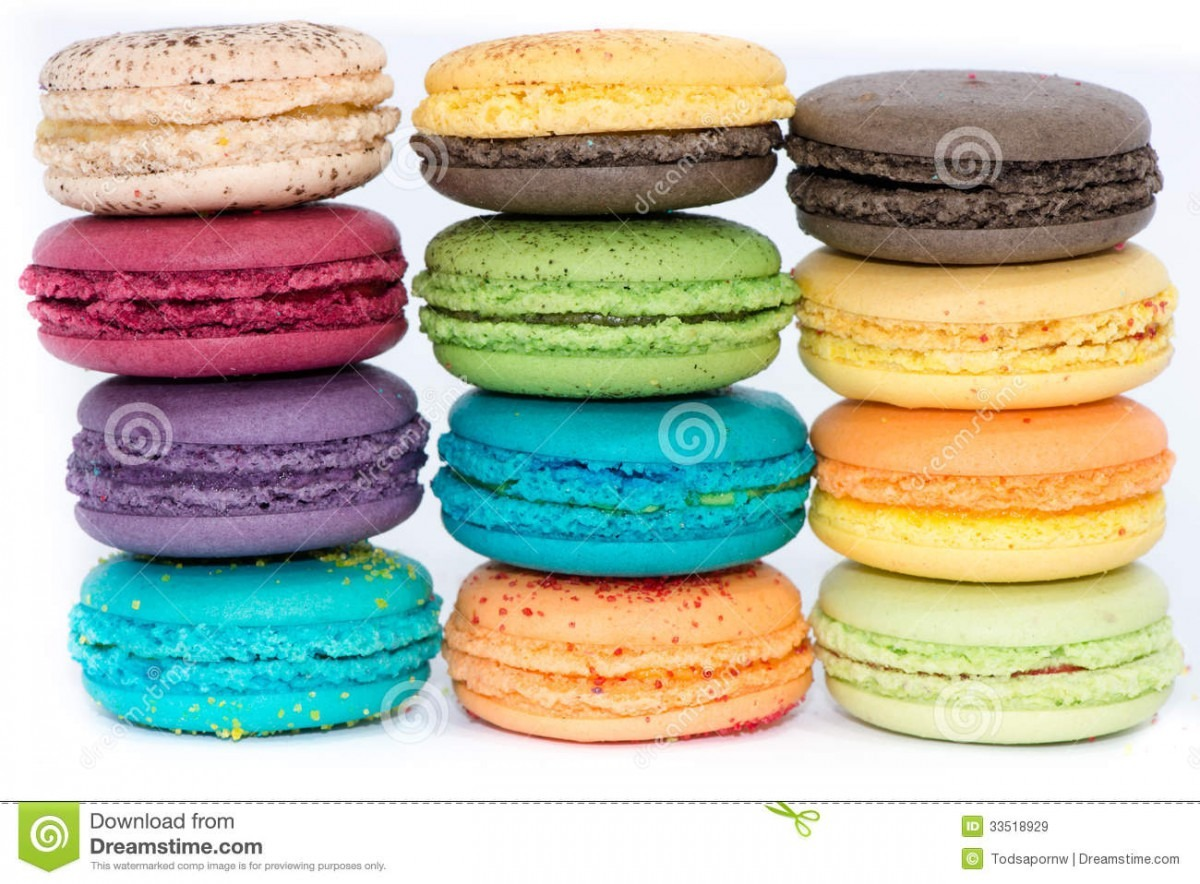 Traditional French Colorful Macaroons Stock Image