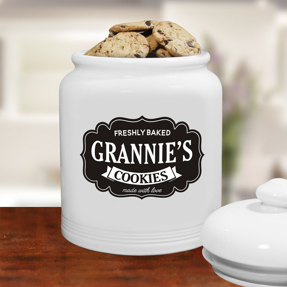 Personalized Farmhouse Ceramic Cookie Jar