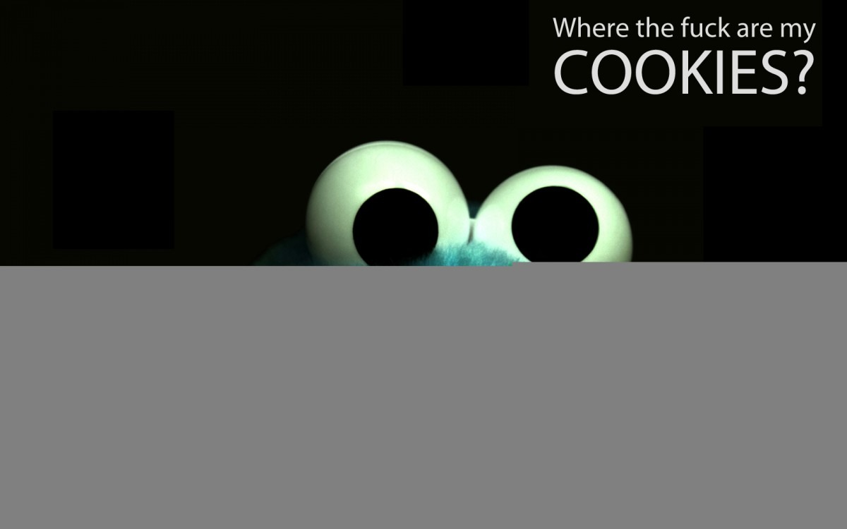 1680x1050px Funny Cookie Monster Wallpaper