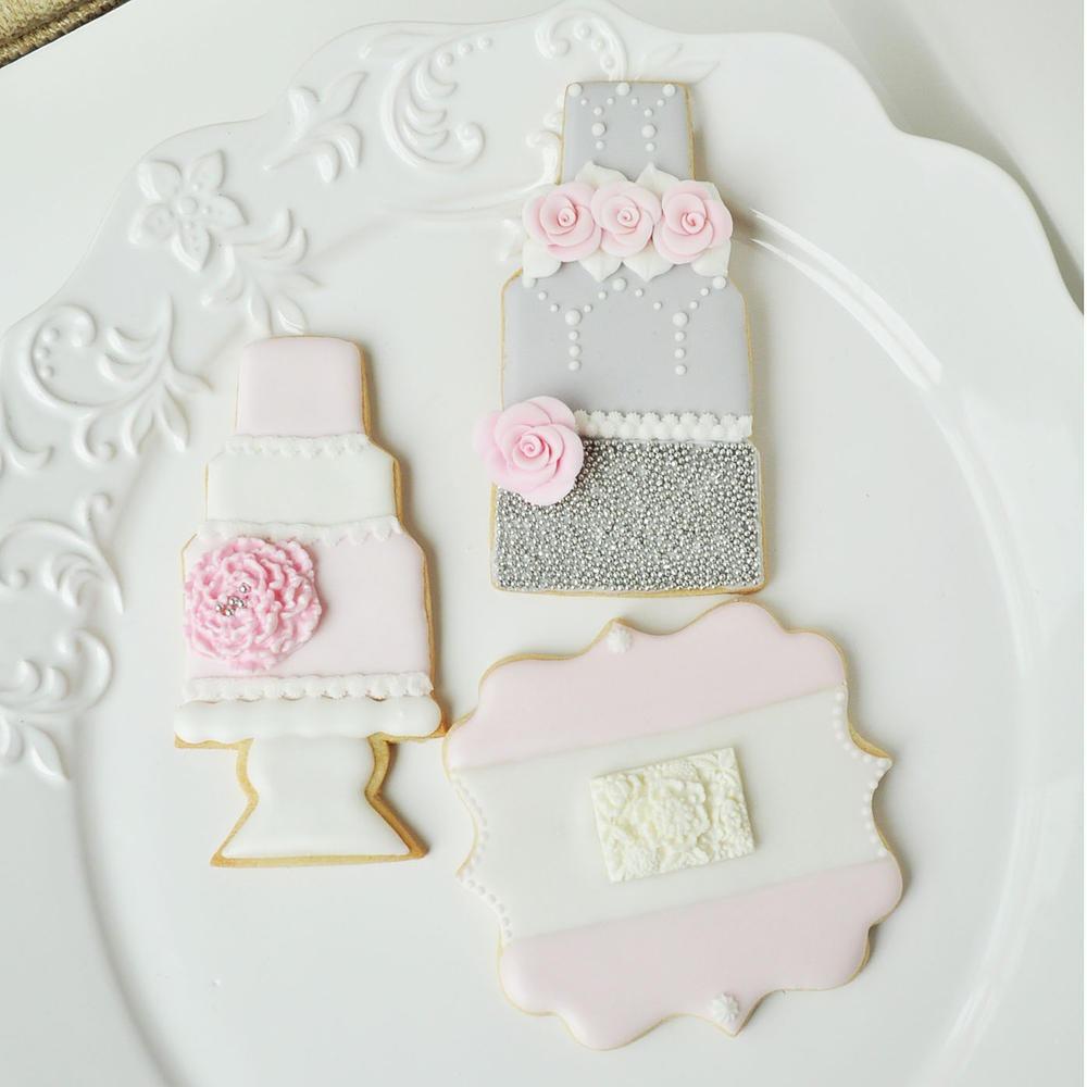 Wedding Cake Cookies & Plaque Cookie