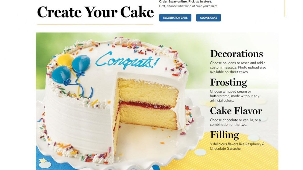 Wegmans Now Offering Online Cake Orders