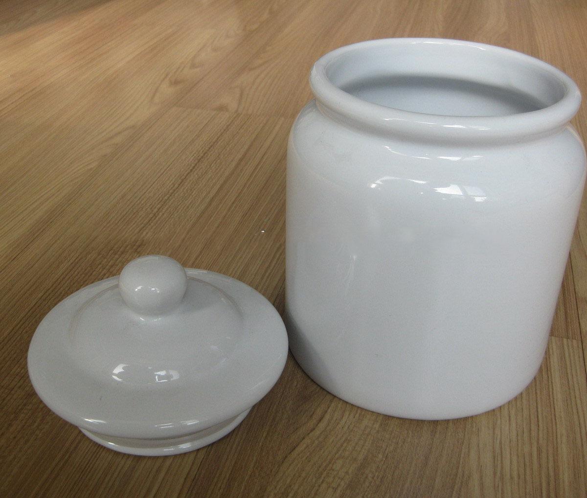 Brilliant White Cookie Jar Diy Blank Sublimation Ceramic Cheap
