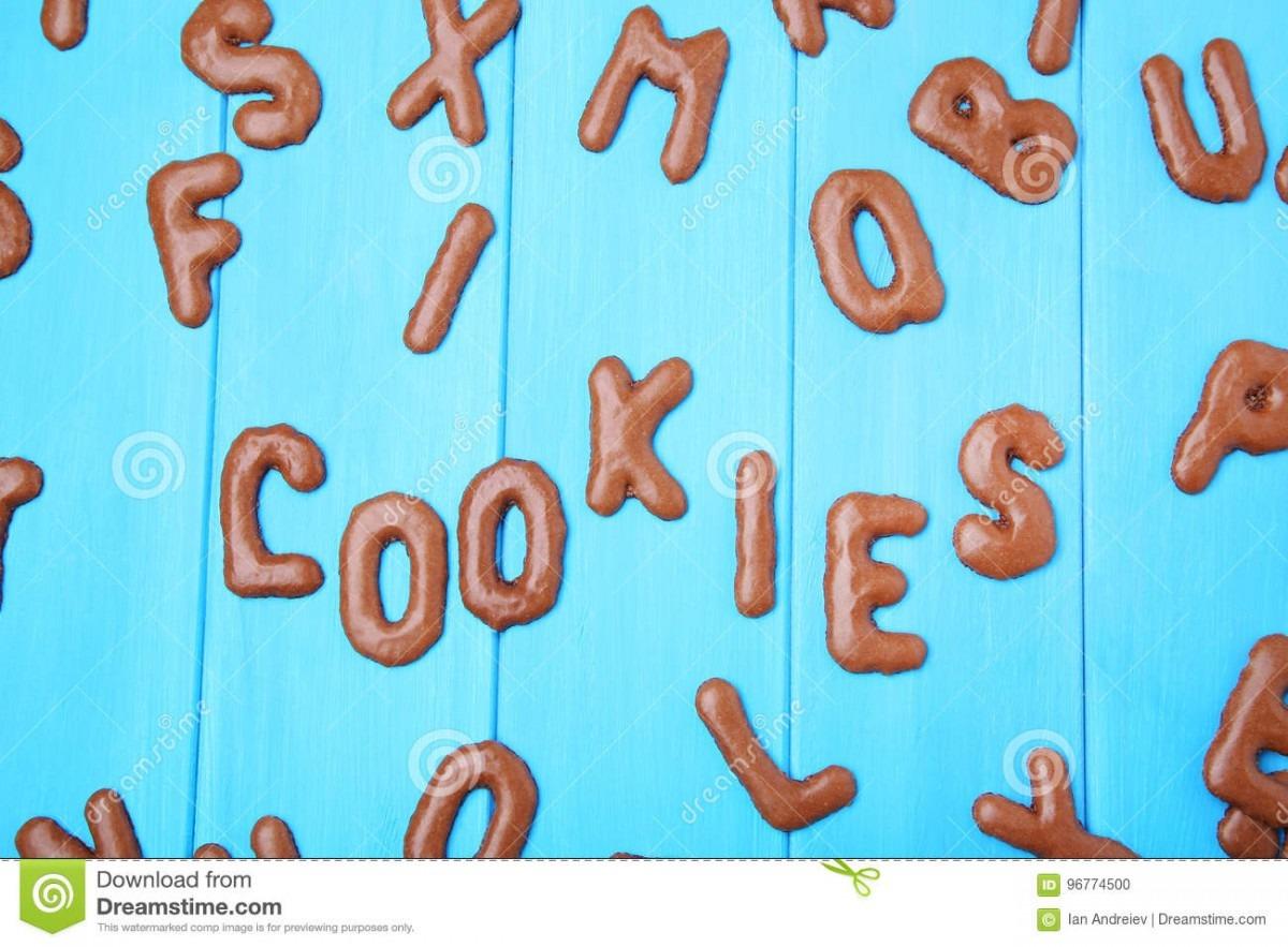 Word Cookies Stock Photo  Image Of Homemade, Design, Cookies