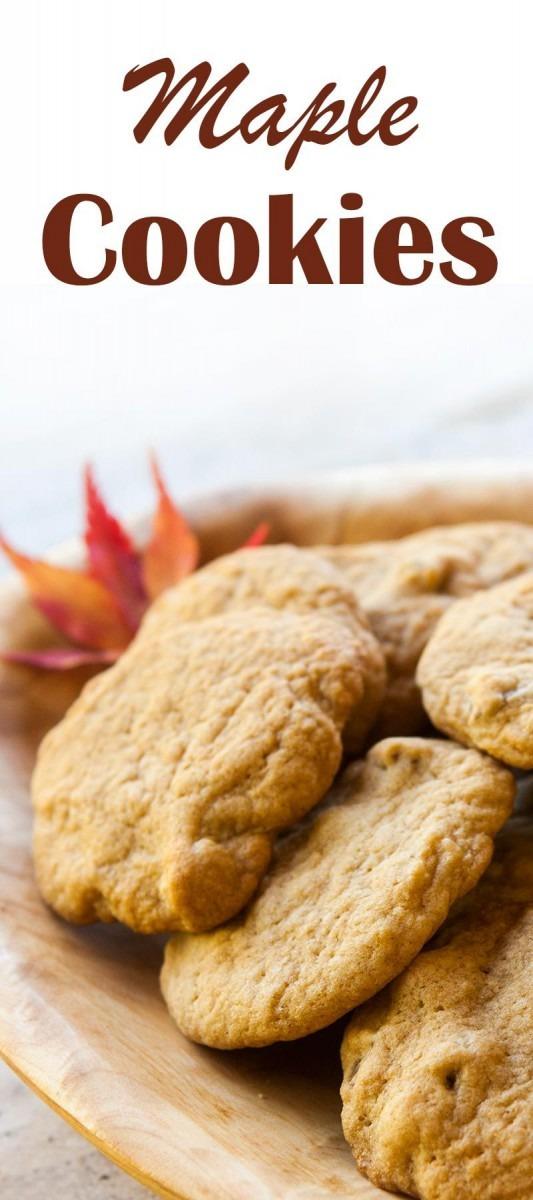 Maple Cookies ~ Soft And Chewy Cookies With Maple Syrup And